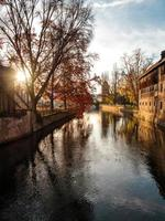 Buildings in the city of Strasbourg, France photo