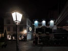 The streets of Strasbourg at night, France photo