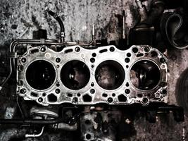 Diesel internal combustion engine close-up photo