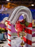 vista interior de la decoración navideña foto