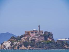 Sunny view of the Alcatraz Island and San Francisco Bay photo