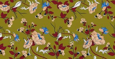 Floral decoration curls illustration. Vintage ornament, pattern. vector