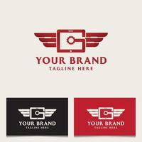 Garage Logo Design Red vector