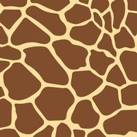 patrón de fondo marrón de piel de jirafa vector