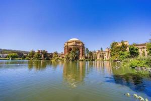 Sunny view of The Palace of Fine Arts photo