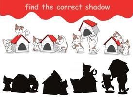 encontrar la hoja de sombra correcta vector