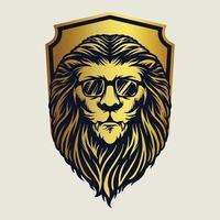 Badge Animal Lion Mascot Illustrations vector