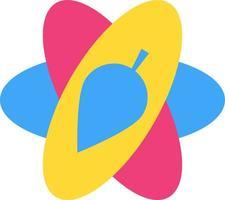 Harmony relationship abstract symbol flat icon vector