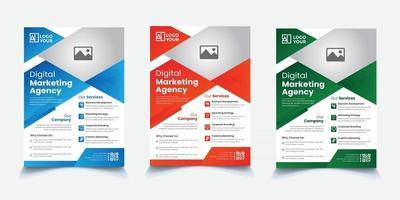 Creative Corporate Flyer vector