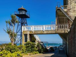 Sunny view of some historical building in Alcatraz island photo