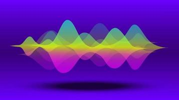 Multicolor abstract fluid sound wave. Vector illustration.