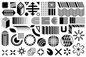 Modern shapes. Geometric design elements. vector