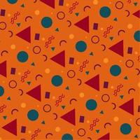 MEMPHIS PATTERN, ABSTRACT MEMPHIS BACKGROUND FREE VECTOR