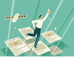 Fast browsing social media illustration concept vector