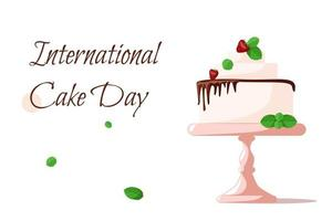 Banner congratulations on the International Cake Day vector