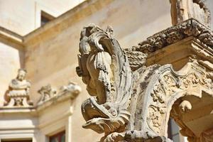 Italy, Lecce, city with Baroque architecture and churches and archaeological remains. photo