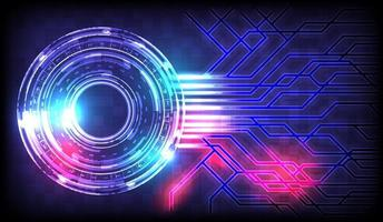 Element of computer data. Abstract hi-tech background vector