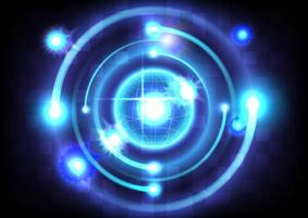 Abstract futuristic hi-tech background. High technology sci-fi vector