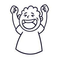 Man with happy emotion. Happy smiling emoji avatar. vector
