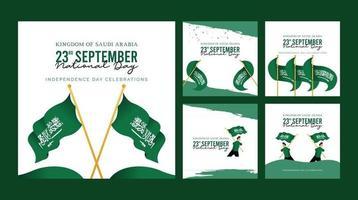 saudi arabia banner template. national day celebrations. vector