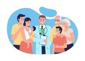 tratamiento médico general para personas de todas las edades ilustración aislada vector