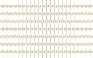 Stylish hexagonal line pattern background Free Vector
