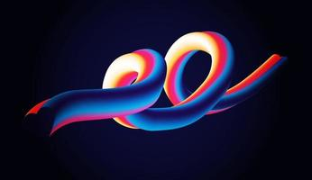 liquid love shape abstract beackground vector