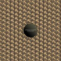 golden and black seamless metaballs pattern vector