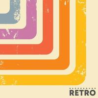 Retro design background and vintage grunge texture and colored stripes vector
