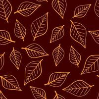 Seamless pattern with autumn leaves. vector
