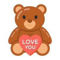 Teddy Bear  and valentine vector