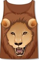 Front of tank top sleeveless with lion pattern vector