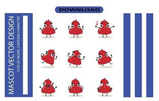 Mascot images of the rose apple set. Free Vector