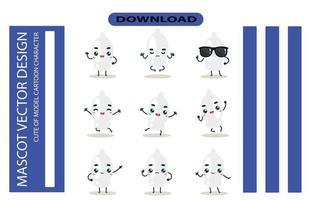 imágenes de la mascota del juego de condones. vector libre