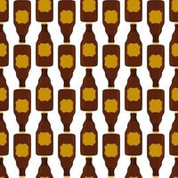 Illustration on theme seamless beer glass bottles with lid for brewery vector