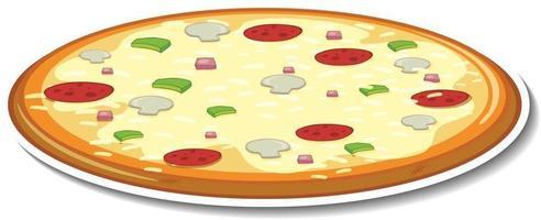 Italian pizza sticker on white background vector