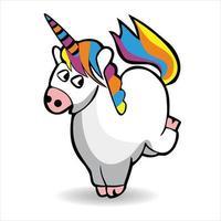 cute unicorn cartoon illustration vector