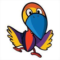 woodpecker cartoon illustration vector