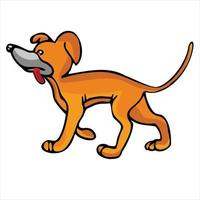 cute dog cartoon illustration vector