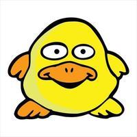 cute duck cartoon illustration vector