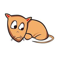 cute mouse cartoon illustration vector