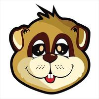 cute squirrel character cartoon illustration vector