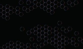 polygonal black abstract background vector