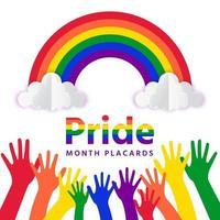 Pride month rainbow vector