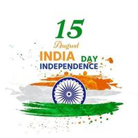 Indian independence painted in beautiful watercolors vector