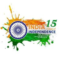Indian independence painted in landscape watercolor vector