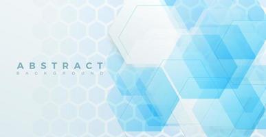 Tecnología de fondo abstracto, ilustración de vector de forma hexagonal