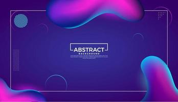 Liquid abstract fluid gradient shapes background design template vector