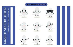 Mascot images of the sperm set. Free Vector