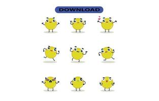 Mascot images of the coin set. Free Vector
